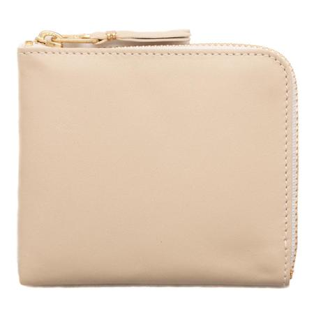 COMME des GARÇONS Half Zip Wallet Classic Leather Line - Off White