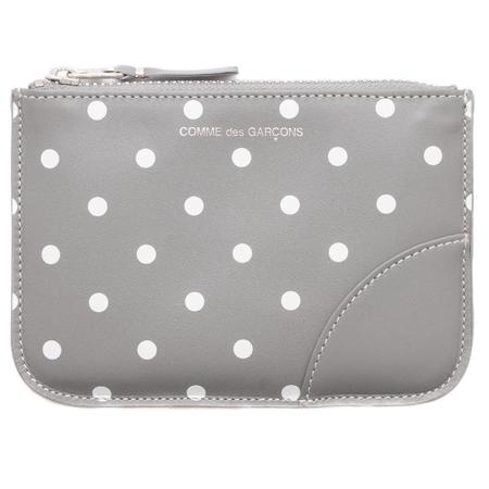 COMME des GARÇONS Zip Wallet Dots Printed Leather Line - Grey