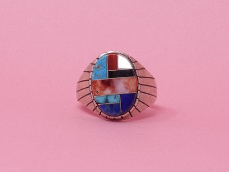 Queen City General Store Vintage Stone Inlay Ring