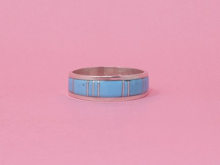 Queen City General Store Vintage Turquoise Inlay Band Ring