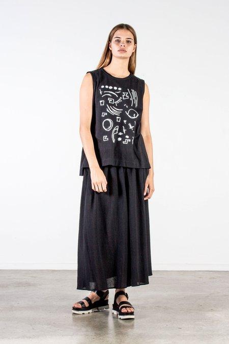 Nyne Lucky Skirt - Black Gauze