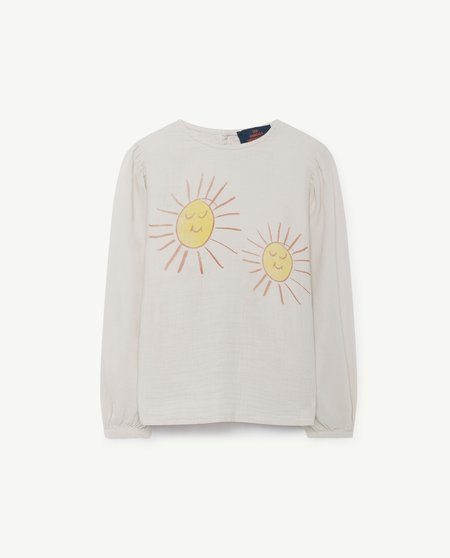Kids The Animals Observatory Opossum Blouse - White/Red Suns