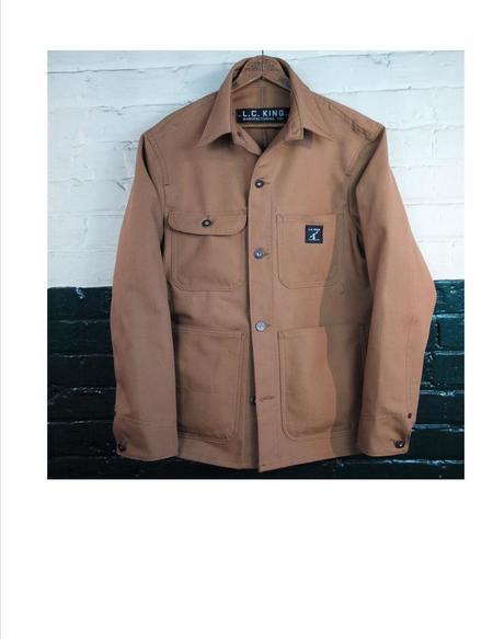 L.C. King Duck Chore Coat - Brown