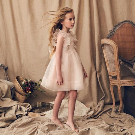 KIDS Love By Nellystella Mae Dress - Pink Orchid Ice