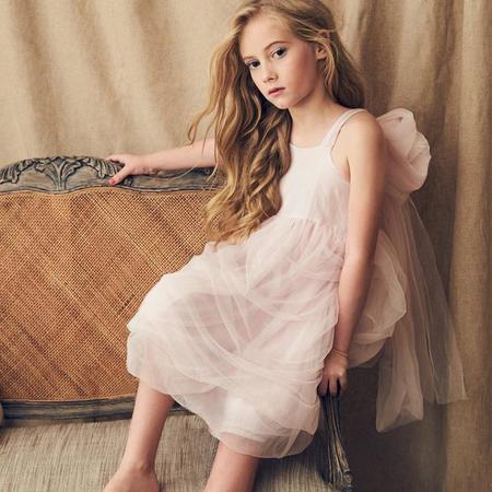 KIDS Love By Nellystella Peach Dress - Peony Petal Pink
