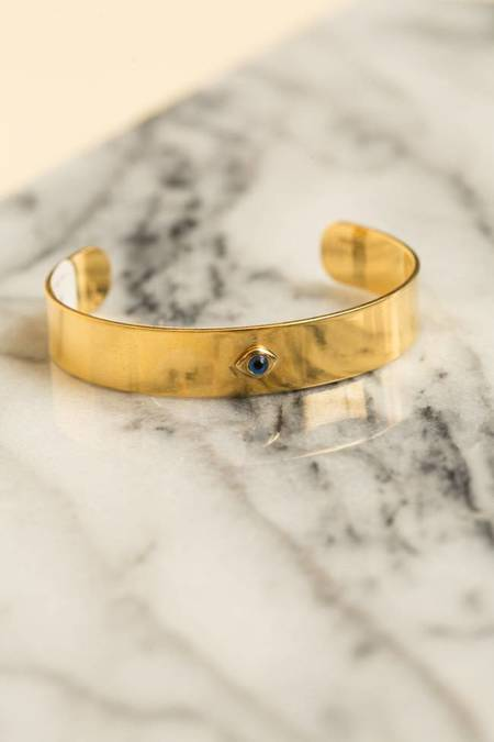 Ileana Makri Single Eye Ziggy Bracelet - BRONZE/GOLD