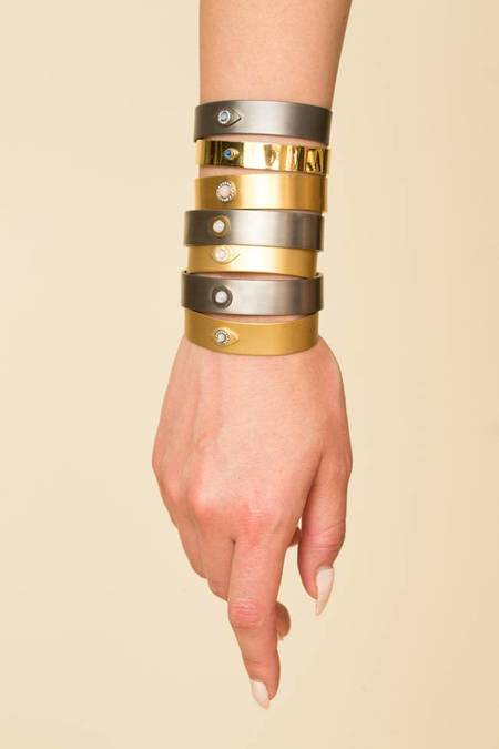 Ileana Makri Eye Sun Cuff - Gold Plated