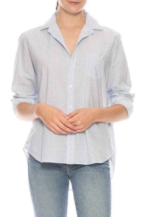 Frank & Eileen Eileen Floral Shirt - BLUE/WHITE FLOWER