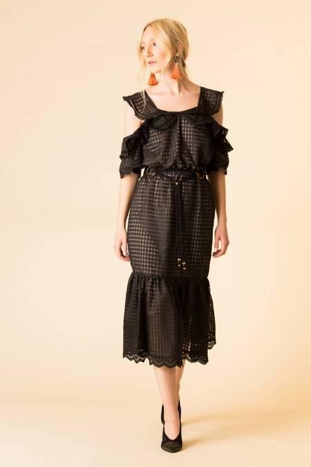 Marissa Webb Kendra Check Dress - Black