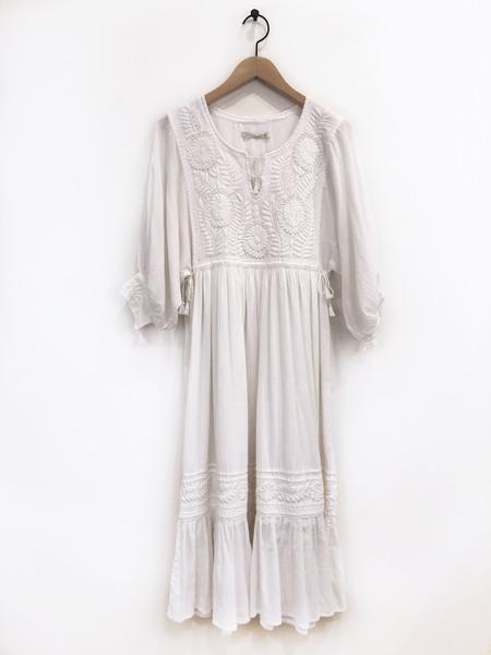 Santa Lupita Eden Garden Dress - White/White