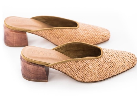 James Smith Woven Mule - NATURAL