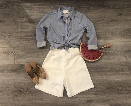 Just Female Timeo Shirt - Federal Blue Stripe