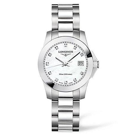 Longines Conquest Watch - Silver/Diamond