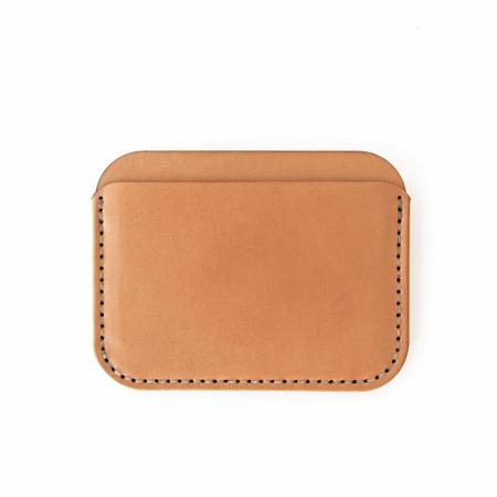 Unisex MAKR Round Luxe Wallet - Russet