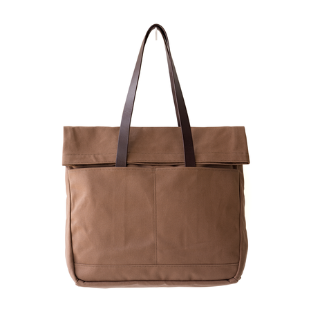 MAKR Canvas and Leather Fold Weekender Revised - Tobacco