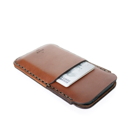 MAKR iPhone SE Card Sleeve - SADDLE TAN