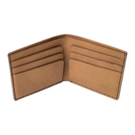 MAKR Open Billfold Wallet - TOBACCO