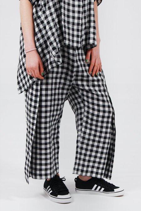 Henrik Vibskov Flip Linen Pants - Black/White