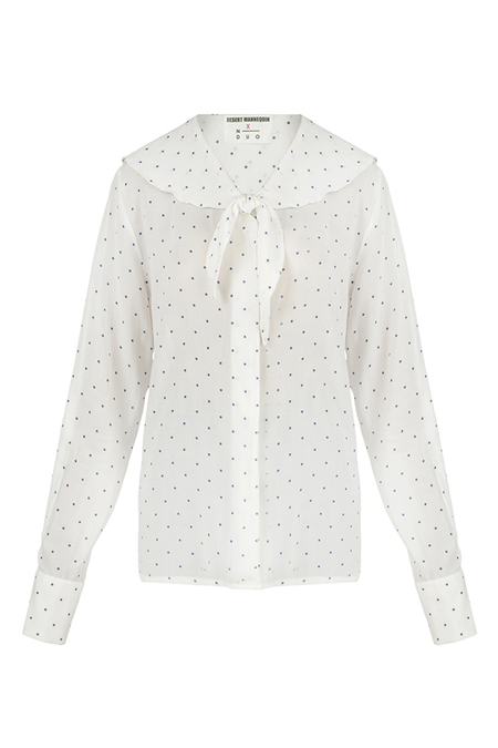 N-DUO dotted shirt - White