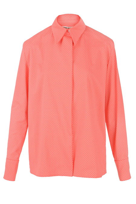 N-DUO dotted shirt - Pink