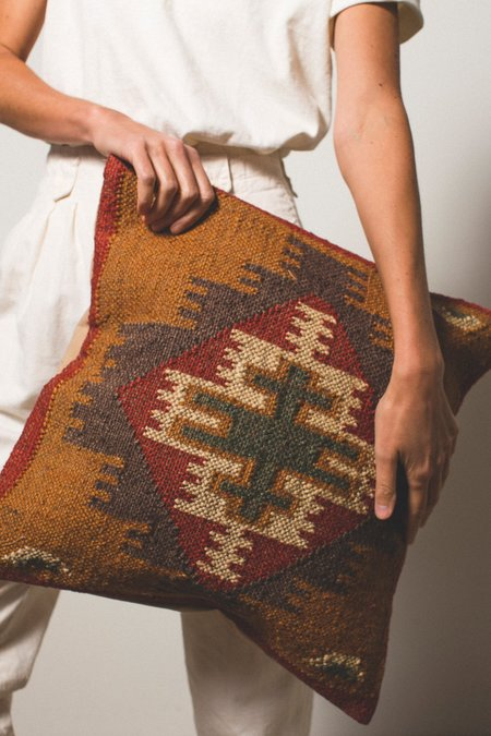 Kopal Woven Pillow Cover - Tan