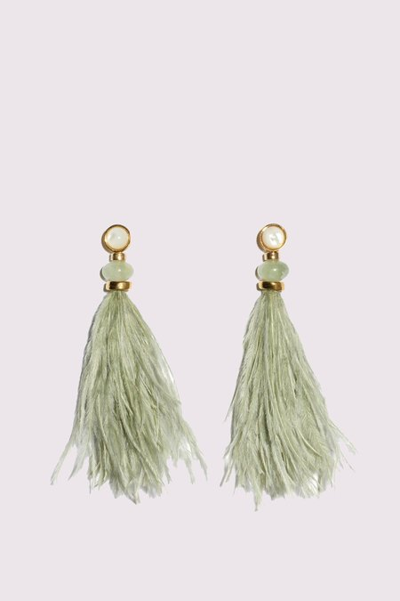 Lizzie Fortunato Parker Earrings - Seafoam Green