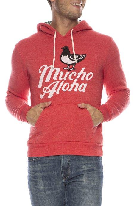 PIDGIN ORANGE Mucho Aloha Hoodie - RED