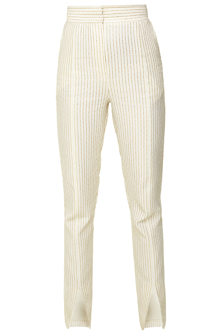 N-DUO The split ends trousers - WHITE