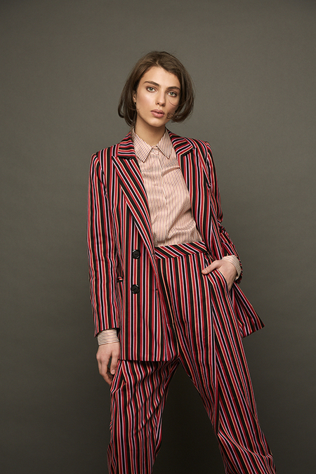 N-DUO Striped pants