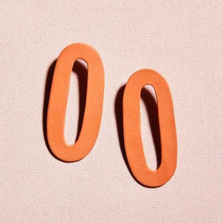 Four Eyes Ceramics Link Earring - Terracotta