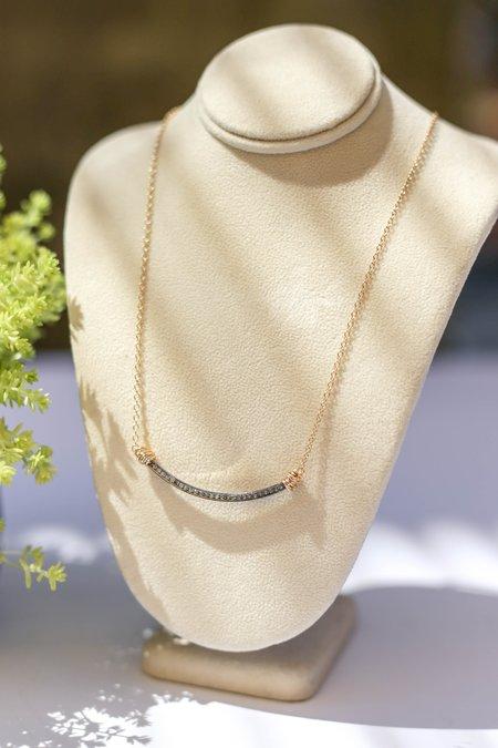 Bloom Pave Diamond U Necklace