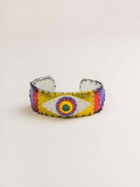 Robin Mollicone Malachite Eye Cuff Bracelet