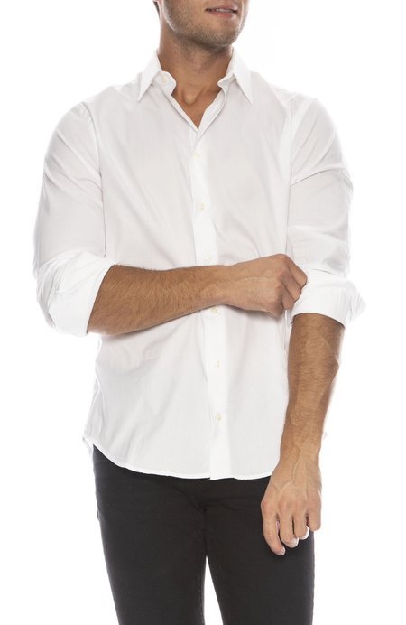 GITMAN BROS X RON HERMAN Exclusive French Cuff Shirt - WHITE