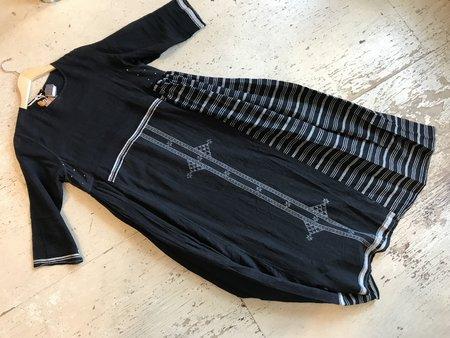 Injiri Cotton Dress - Black