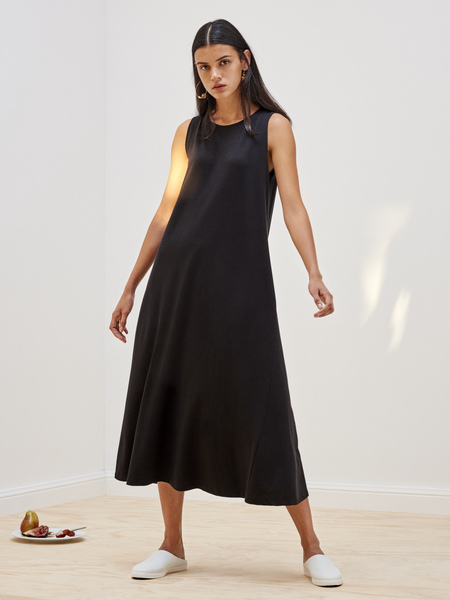 Kowtow Building Block Tank Swing Dress in Black