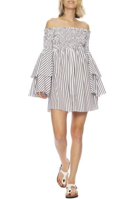 CAROLINE CONSTAS Appolina Striped Dress - Black Stripe