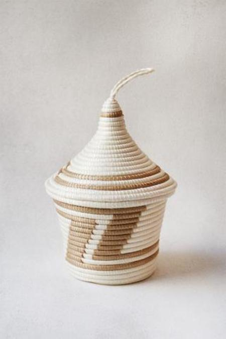 INDEGO AFRICA peace basket - WHITE/NATURAL