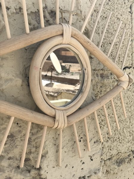 Siku Store Vintage Rattan Moroccan Eye Mirror