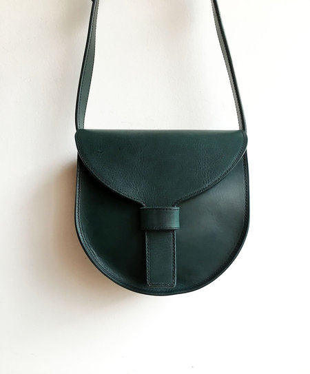 SARA BARNER SADDLE BAG - FOREST GREEN