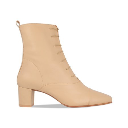 By Far Lada Leather Boot - Cream