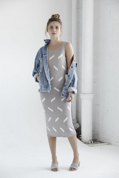 CALLAHAN low back dress - GREY/WHITE