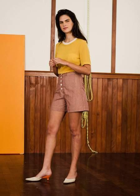 Penny Sage Dreyfus shorts - red stripe