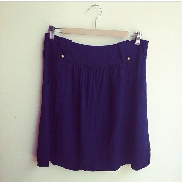 Suzabelle Navy Skirt