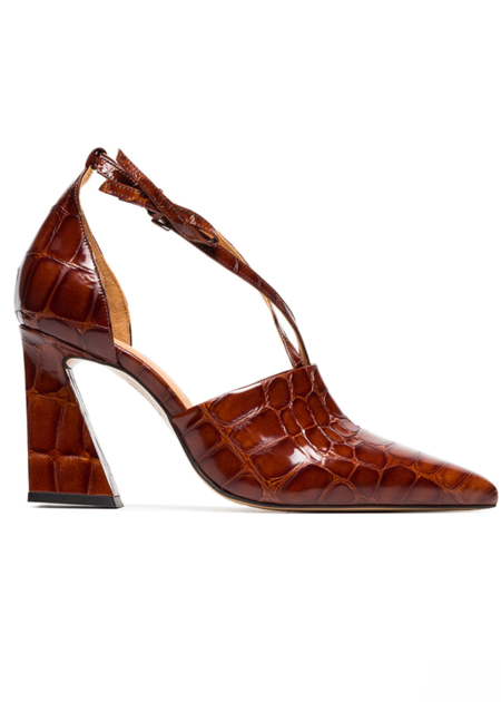 Ganni Lina Leather Pumps