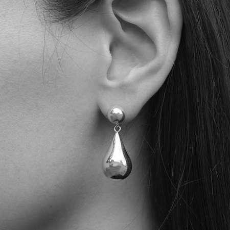 Sophie Buhai Small teardrop earrings - SILVER