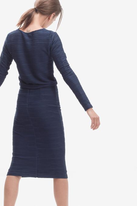 STORM & MARIE textured top - dark blue