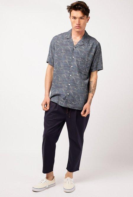 Candor Deluge Hawaiian Shirt - NAVY BLUE
