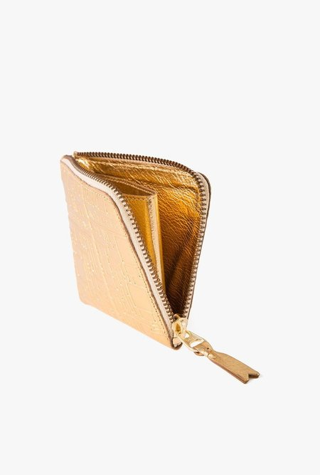 Comme des Garçons Logo Rec Half Zip Wallet - GOLD
