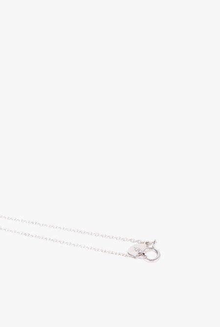 Eriness Long Diamond Bar Necklace - 14k Gold/White Diamond