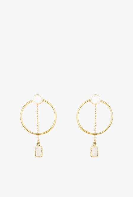 SOKO Mari Chain Hoop Earrings - Brass